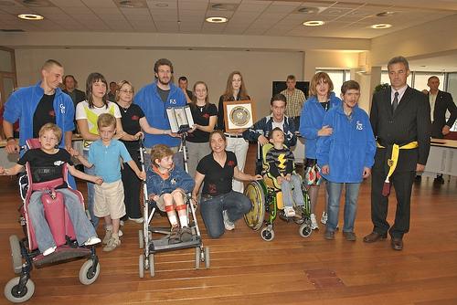 Gym FriS, de swingende turnsamenwerking van FriS en de Leeuwse Turnkring, kreeg van Sint-Pieters-Leeuw de Sportleeuw uitgereikt