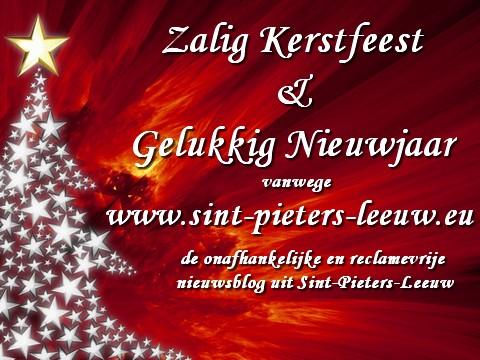Zalig Kerstfeest Sint Pieters Leeuw Nieuwssite