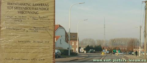 kruispunt Bergensesteenweg en Alsenbergsesteenweg in Sint-Pieters-Leeuw