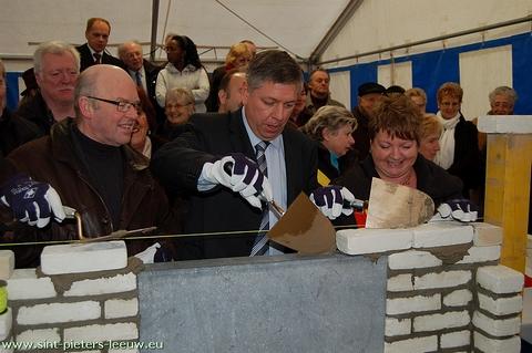 Eerstesteenlegging Zilverlinde  te Sint- Pieters-Leeuw