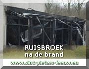 RUISBROEK sporthal AJ Braillard na de brand