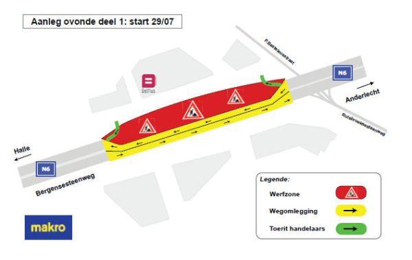 Grafiek: Agentschap Wegen en Verkeer Vlaams-Brabant