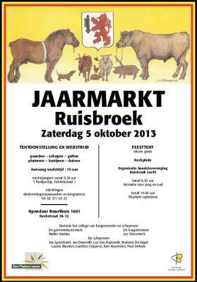 2013-10-05-affiche_jaarmarkt-Ruisbroek-2013