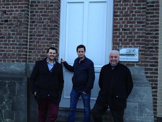 CD&V voorzitter Siebe Ruykens, schepen van Jeugd Bart Keymolen en schepen van gebouwen Lucien Wauters