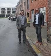 2017-06-28- verkeerssituatie Rink - Jan Desmeth en Bart Keymolen -smal voetpad- Ballestraat