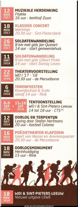 2017-10-26-aankondiging_herdenkings-programma_WOI_2017-2018_Sint-Pieters-Leeuw_flyer