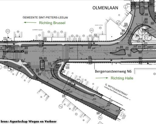 2018-06-08-Richting Brussel_Nieuw Plan 2 Kruispunten met N6_G_ Wittouck en Olmenlaan