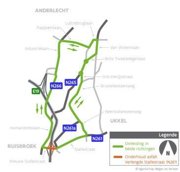 plannetje wegenwerken Ruisbroek