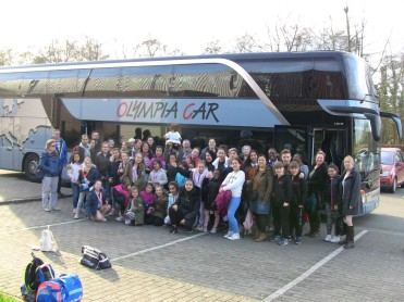 bus met supporters